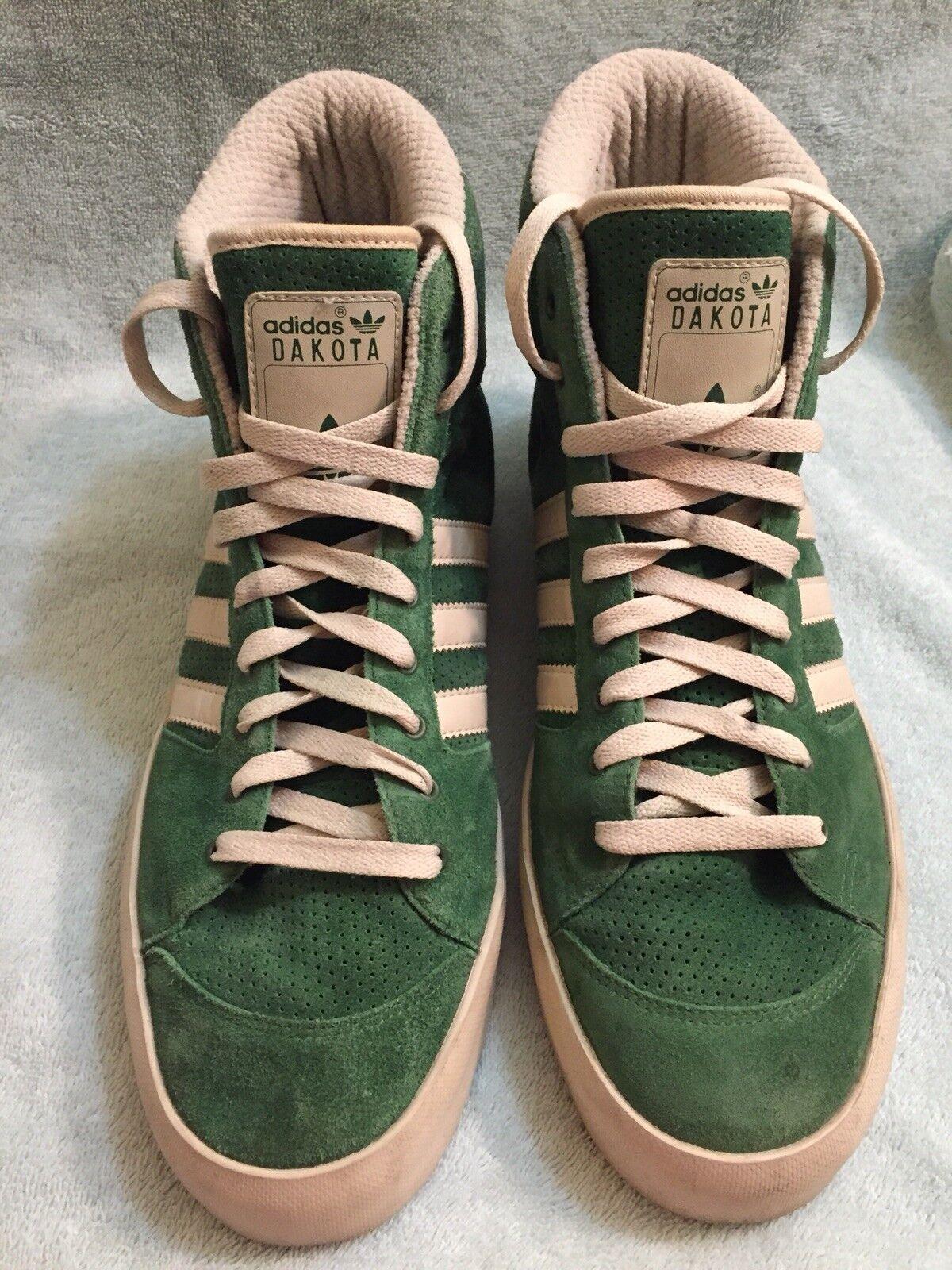 16b8ea0632ed Adidas mens dakota casual pattinare le scarpe le scarpe da ginnastica verde  scamosciata hi top sz
