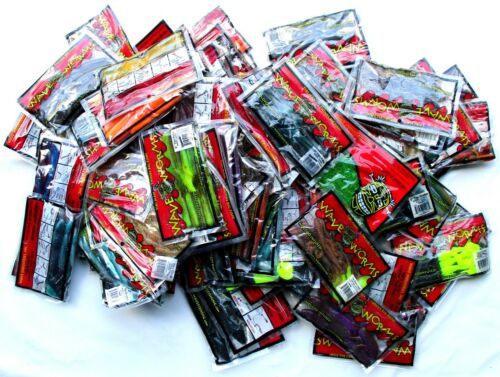 ++ Unopened Packs Wave Plastics Crawdudes Snakes Lizards Tubes 100 Brand New