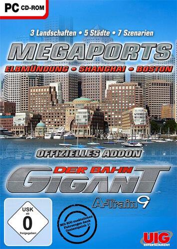 1 von 1 - PC Computer Spiel ***** Der Bahn Gigant - Megaports - A-Train 9 *********NEU*NEW