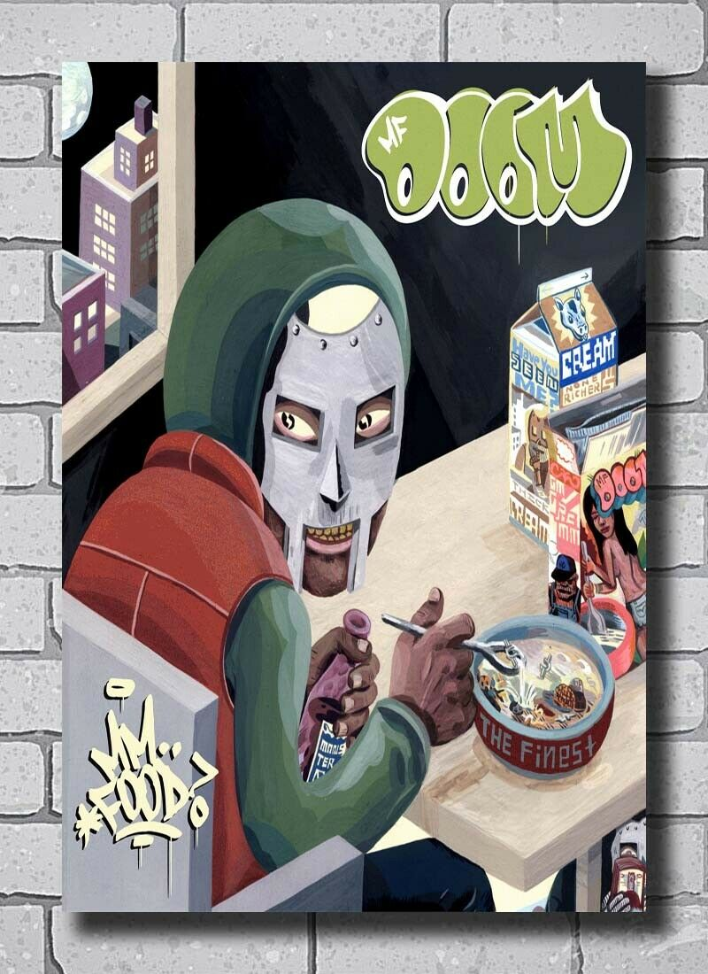 MF Doom Born Like This Cover Poster Hip Hop Music 14x21 24x36 X-196