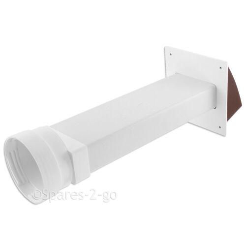 """ZANUSSI muro SFIATO KIT Sfiato Asciugatrice Tubo esterno OUTLET PIPE CAPPUCCIO condotto 4 /"""""""