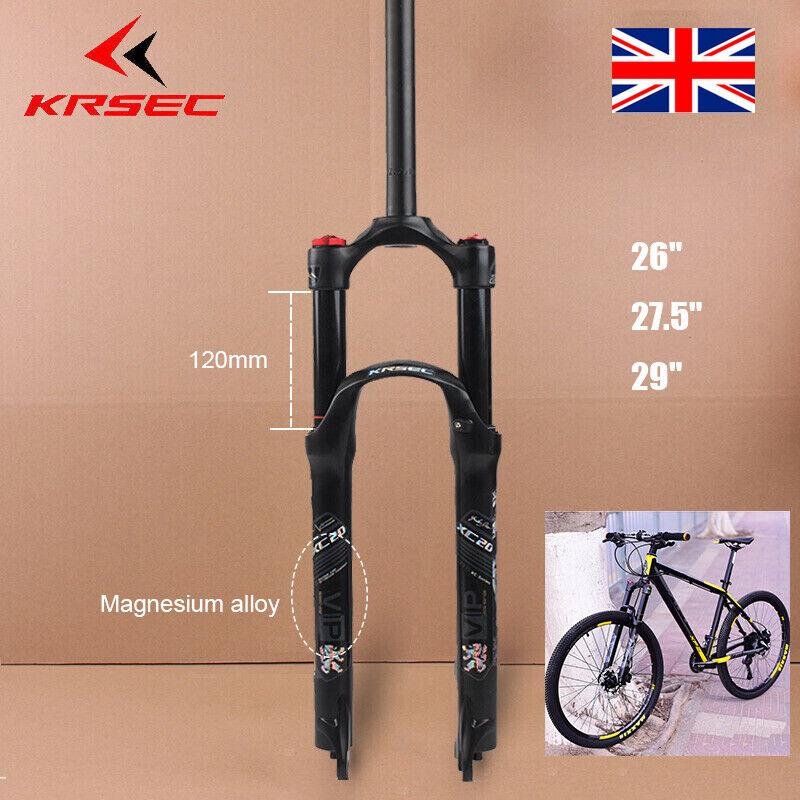 KESEC UK MTB Bike XC20 Suspension Straight Fork 120mm Disc Brake 1-1 8  Bicycle