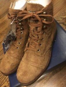 a28c5eca01665 Polo Ralph Lauren Enville Suede Toe-cap Khaki Military Boots Size ...