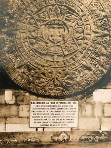 Calendario Del Real.Real Photo Postcard Calendario Azteca Aztec Calendar Pueblo