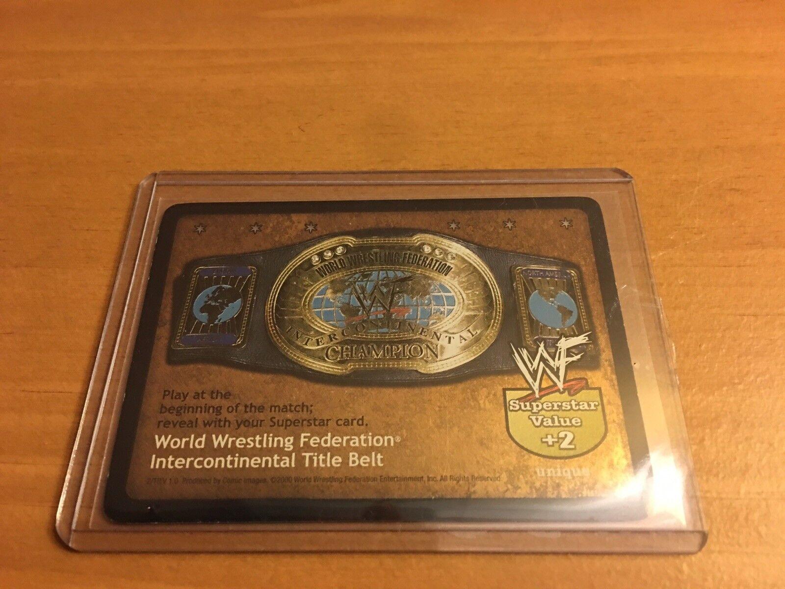 WWF Raw Deal CCG WWF Intercontinental Title Belt 2 TR Foil