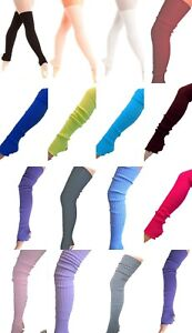 RIBBED-STIRRUP-LONG-RIB-LEGWARMERS-LEG-WARMER-BALLET-GYM-DANCE-89cm-90cm-UK