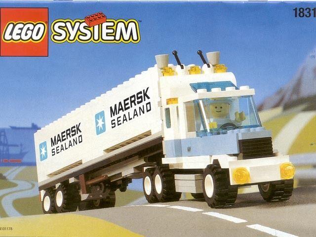 LEGO Ville Classique Ville Cargo 1831 Maersk Sealand Container Camion Neuf Scellé
