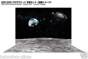 [HAKONIWAGIKEN DSF-005 900x600mm] Diorama Sheet Space backwall&base set