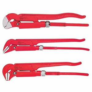 Wiha 32995 Pipe Wrench Set Heavy Duty 3 Piece