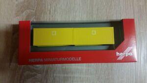 2 Stück 1/87 Zubehör Baucontainer - Neu Ausgereifte Technologien Herpa 053600-002 Gelb