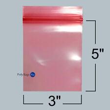 1000 3x5 Pink Antistatic Zip Lock 4 Mil Anti Static Reclosable Zipper Bags