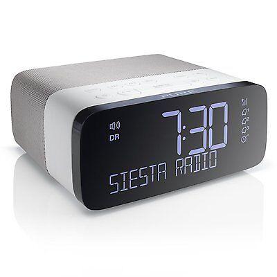 Pure Siesta Rise DAB FM Radio Alarm Clock White