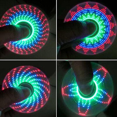 18 Changings LED Rainbow Light Hand Spinner Tri Fidget EDC Toy Focus ADHD Sweet