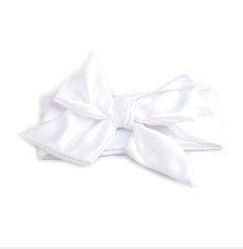 BabyCotton Big Bow Tie Head Wrap Turban Bowknot Headband Newborns Girl Hair Band