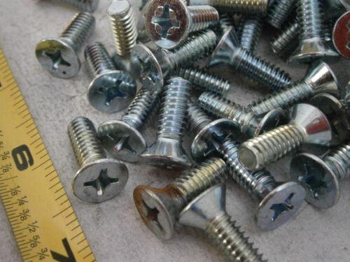 """Machine Screw 1//4-20 x 3//4/"""" Phillips Flat Head Steel Zinc Plated Lot of 50 #4796"""