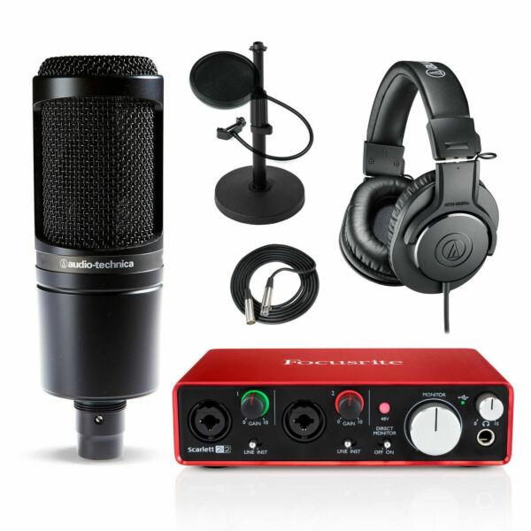 focusrite scarlett 2i2 2nd gen usb audio interface and at2020 studio bundle for sale online ebay. Black Bedroom Furniture Sets. Home Design Ideas