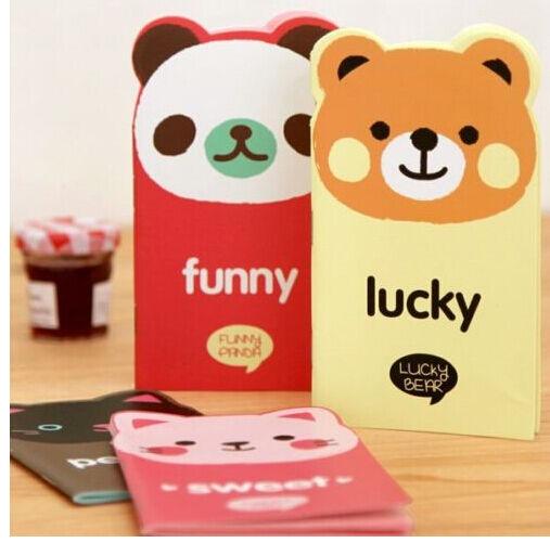FD1028 Student Diary Note Book Kawii Korea Stationery Memo Notepad Random 1pc:)