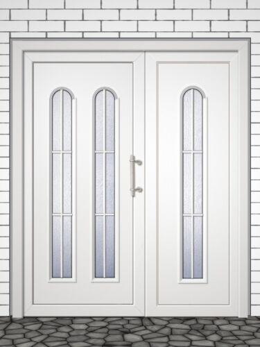 2-flg. Schüco Kunststoff-Haustür Dyje 61, auf Maß, viele Farben und Gläser, neu