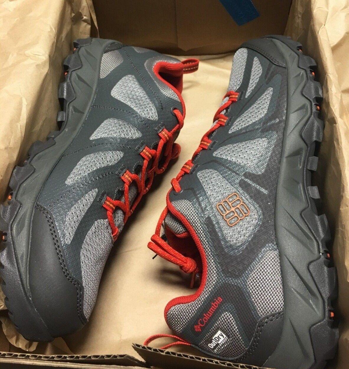 Columbia Peakfreak XCRSN II XCEL\ Men's Sneakers; color  Light Grey , orange NWB