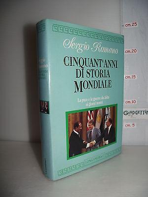 LIBRO Sergio Romano CINQUANT'ANNI DI STORIA MONDIALE da Jalta ai giorni nostri