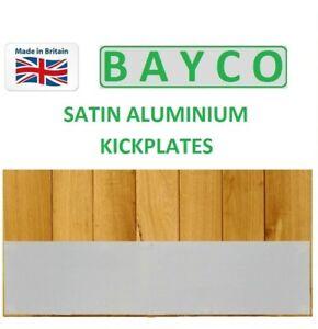 Satin Aluminium Kick Plate SAA 890mm x 250mm