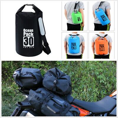 PVC Waterproof 30L Motorcycle Sack Dry Bag Diving Travel Shoulder Bag Universal