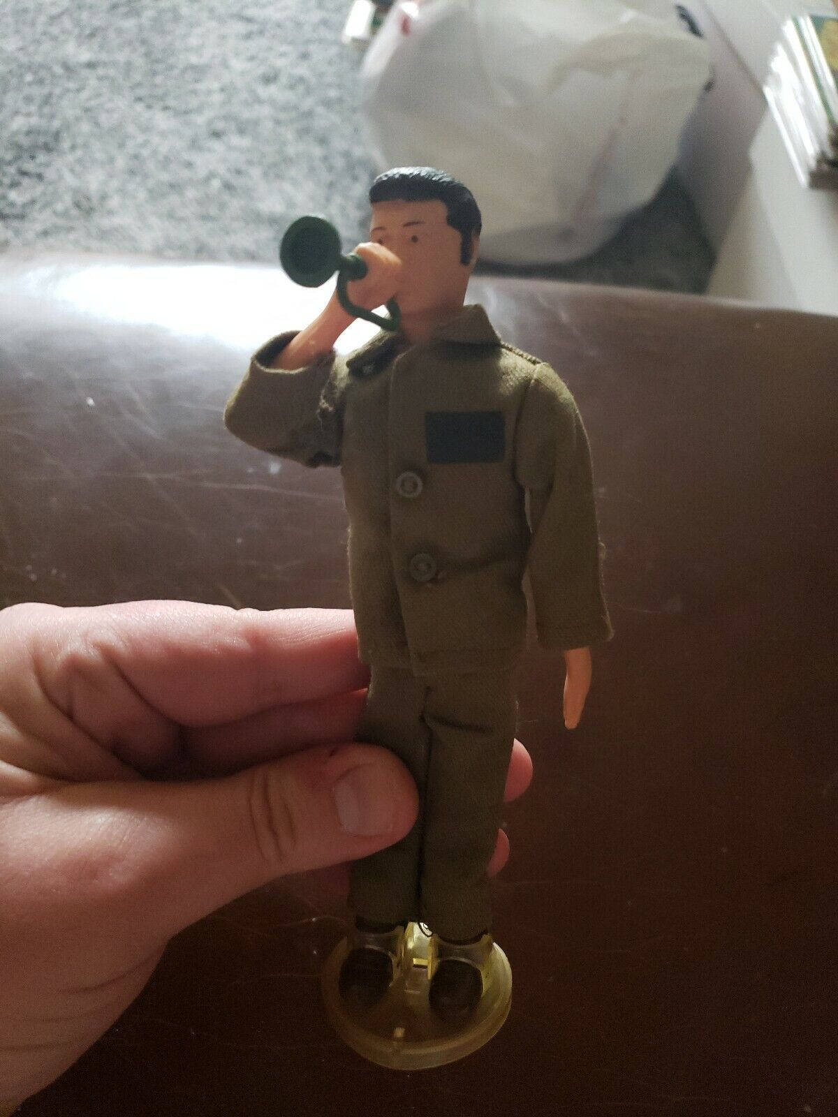 GI Joe 1960s Rare Bugler Figure with stand and cloths High Grade excellent Cond