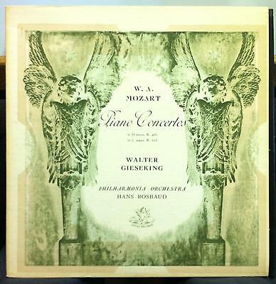 WALTER GIESEKING mozart piano concerto LP VG+ ANG 35215 UK Mono 1st Press