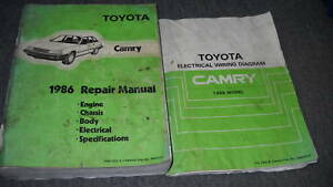 image is loading 1986-toyota-camry-service-repair-shop-workshop-manual-