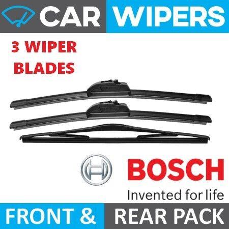 Vauxhall Vectra Hatchback 2002-2005 BOSCH Front Aerotwin /& Rear Wiper Blades