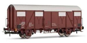 Rivarossi-HR6225-03-H0-DC-Gedeckter-Gueterwagen-Gs-FS-Ep4-5-braun-2-achsig-NEU
