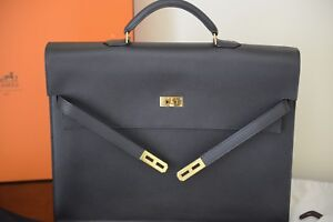 3239f5ebcb32 Image is loading Hermes-Kelly-Depeche-Briefcase-38-Coveted-and-Rare-