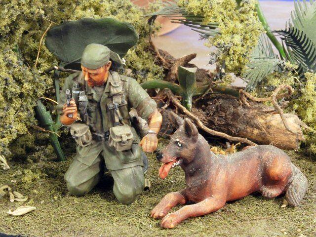 Verlinden 1 35 US Tunnel Rat with his Alsatian Dog Vietnam War (2 Figures) 2797