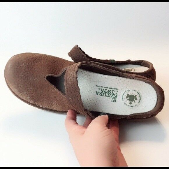 El Naturalista Mary Jane Clog Mules Slip On Walking shoes 9.5