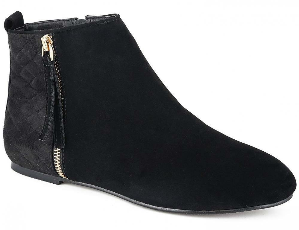 MaxMuxun Women shoes Suede Flats Classic Ankle Boots