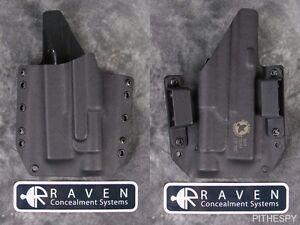 Left-Hand-Raven-Concealment-Holster-for-Glock-17-19-22-23-31-32-TLR-1-Light