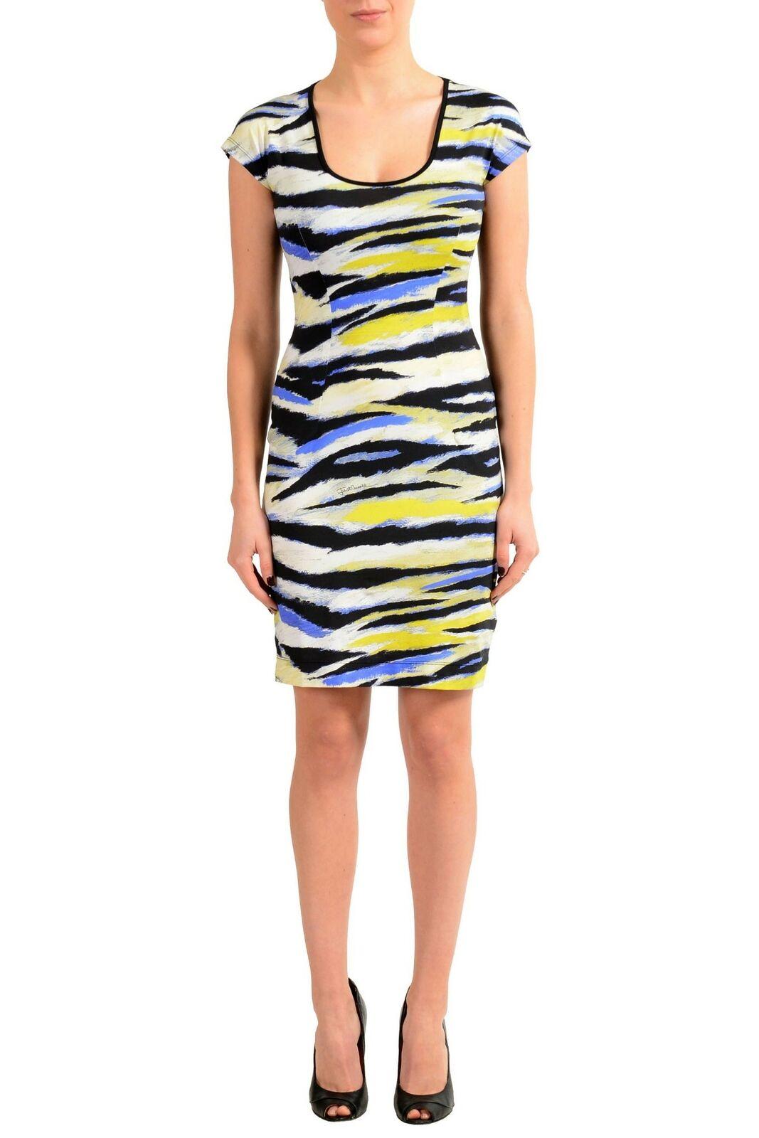 60a8bb91d5ed57 Just Mehrfarbig Kurzärmlig Damen Bodycon Kleid S XL 2XL Stretch Cavalli  ntuvak5210-Kleider