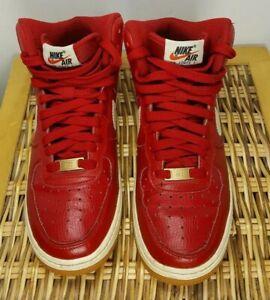 Nike Air Force 1 Af1 High Top Gym Red Blue Gum Mens Size 5 5