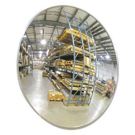 ZORO SELECT SCVI-26Z Indoor Convex Mirror,26 Dia,Acrylic