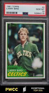 1981 Topps Basketball Larry Bird #4 PSA 10 GEM MINT (PWCC-E)