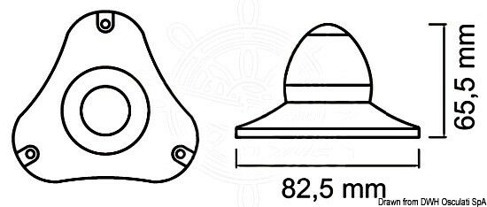 Osculati Sphera II II II Navigationslicht 360 Grad weiß Gehäuse 9f354d
