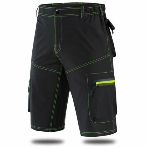 Men/'s Baggy Loose-fit Cycling Shorts MTB Mountain Bike Bicycle Padded Pants Gift