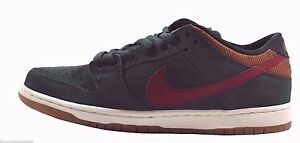 Nike DUNK LOW PRO SB Black Spruce Team Red Al Brown Discounted (330) Men's Shoes