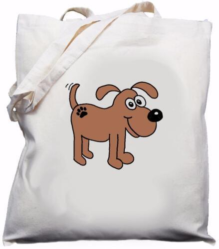 Cream Cotton Shoulder Bag Dog puppy Cute Doggy Design Natural pup