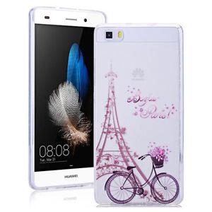 Bonjour-Paris-Soft-Transparent-Phone-Back-Case-Cover-For-Various-mobile-phones