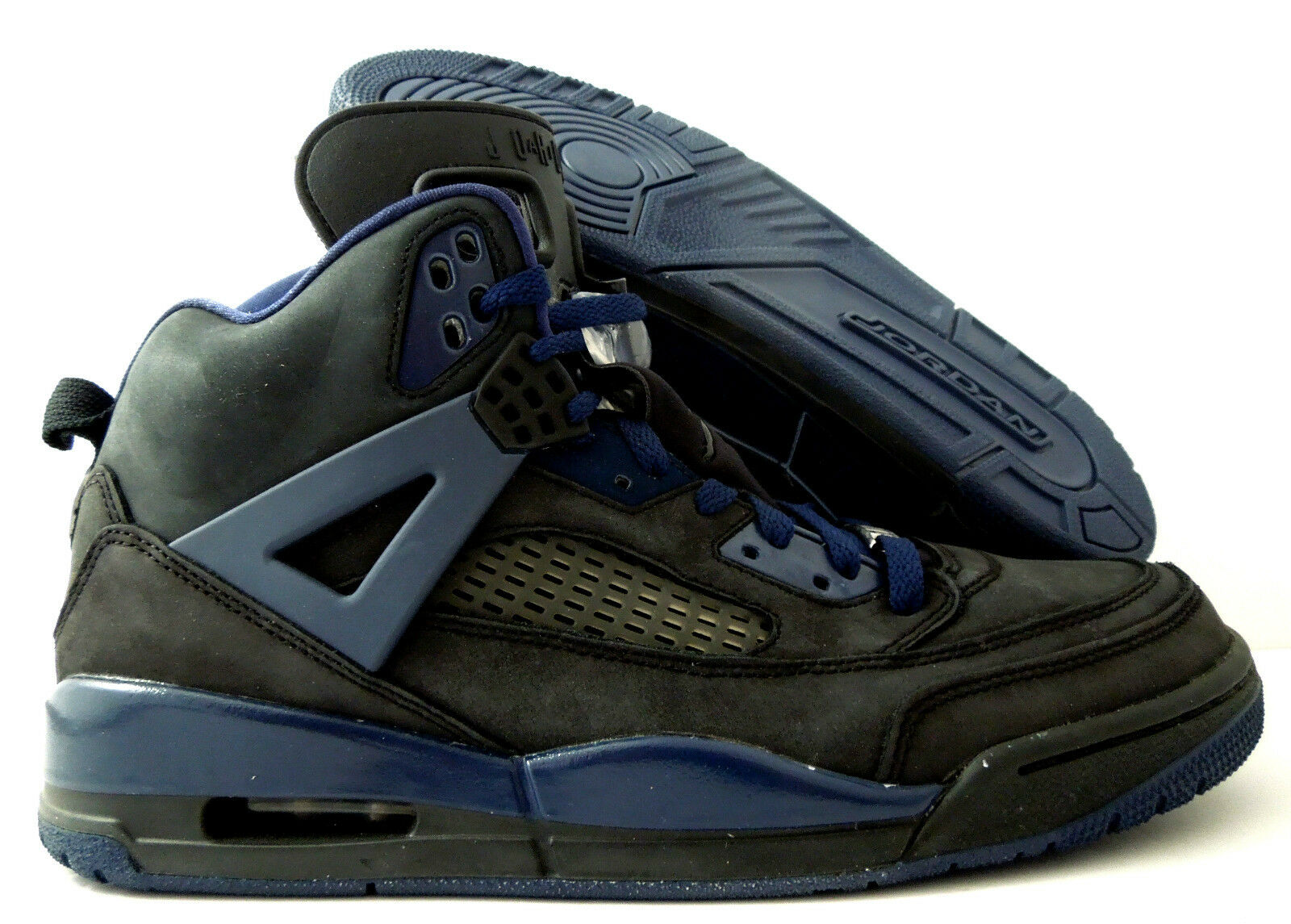 NIKE AIR JORDAN SPIZIKE iD BLACK-NAVY BLUE SZ 11 [605236-991]