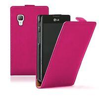 Ultra Slim PINK Leather case cover pouch for LG E460 Optimus L5 II 2 / E450