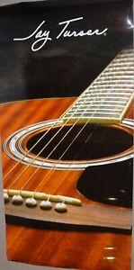 AgréAble Jay Turser 6' X 3' Dreadnought Guitare Acoustique Photographique Mur Bannière-neuf-afficher Le Titre D'origine