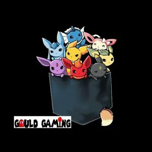 La imagen se está cargando Pokemon-Mono -Eeveelutions-Eevee-Negro-T-SHIRT-UNISEX- ddea5c670f4
