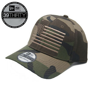 ba5242fb7fb New - New Era 39Thirty American Flag Fitted CAMO Hat Cap - Free ...